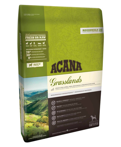 Acana Regionals Grasslands Dog корм беззерновой для собак (ягненок) 2 кг