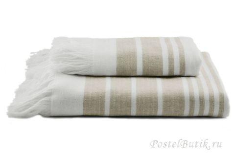 Полотенце 100х180 Hamam Marine Towel дымчатое