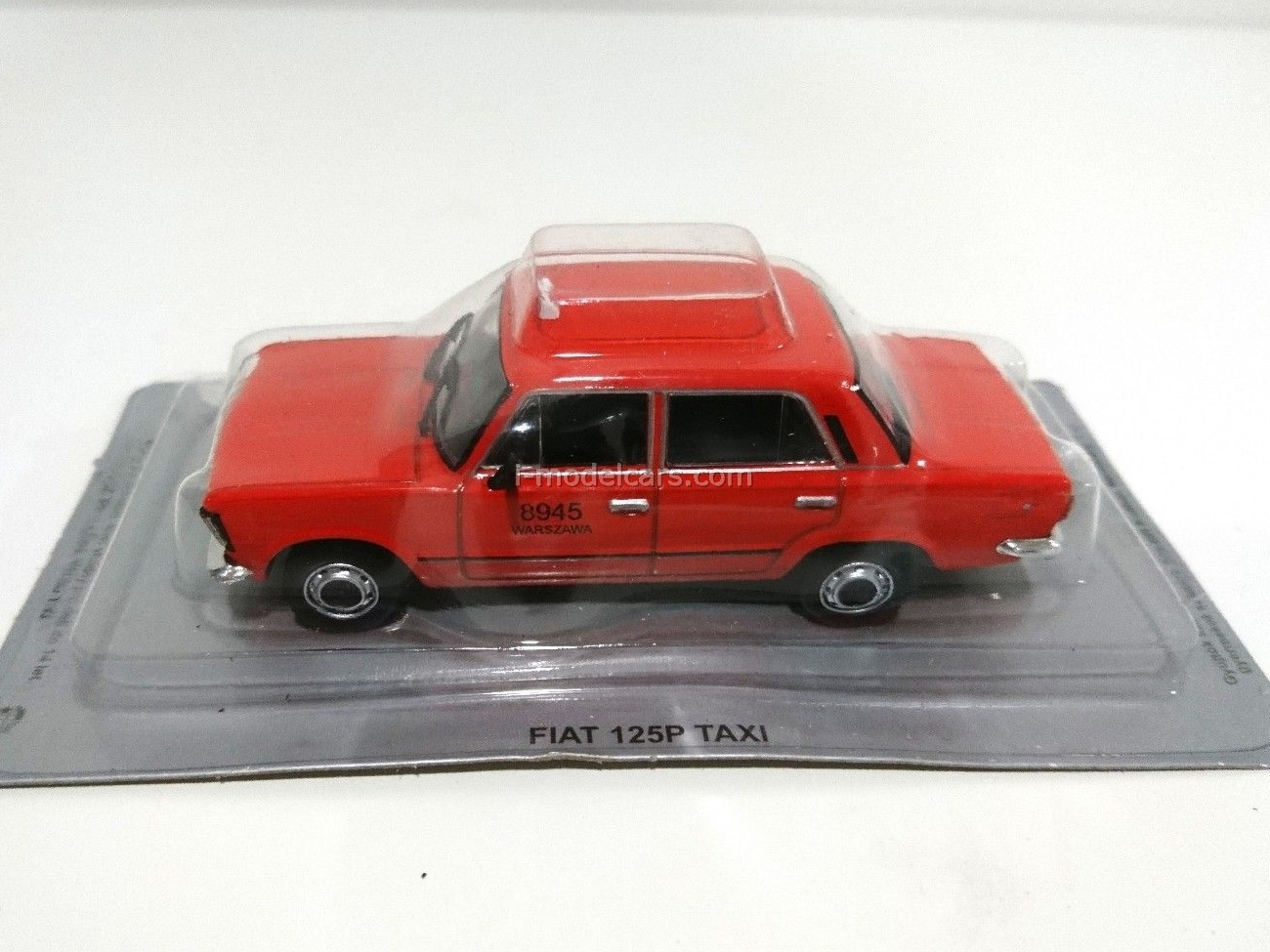 Fiat 125P Taxi red 1:43 DeAgostini Kultowe Auta PRL-u