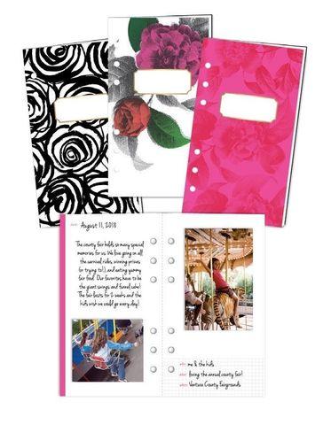 Комплект блоков ( 10,5 х19 см )  для блокнотов - 3 шт-  Heidi Swapp Large Memory Planner Storybook - Fresh Start, Elegant