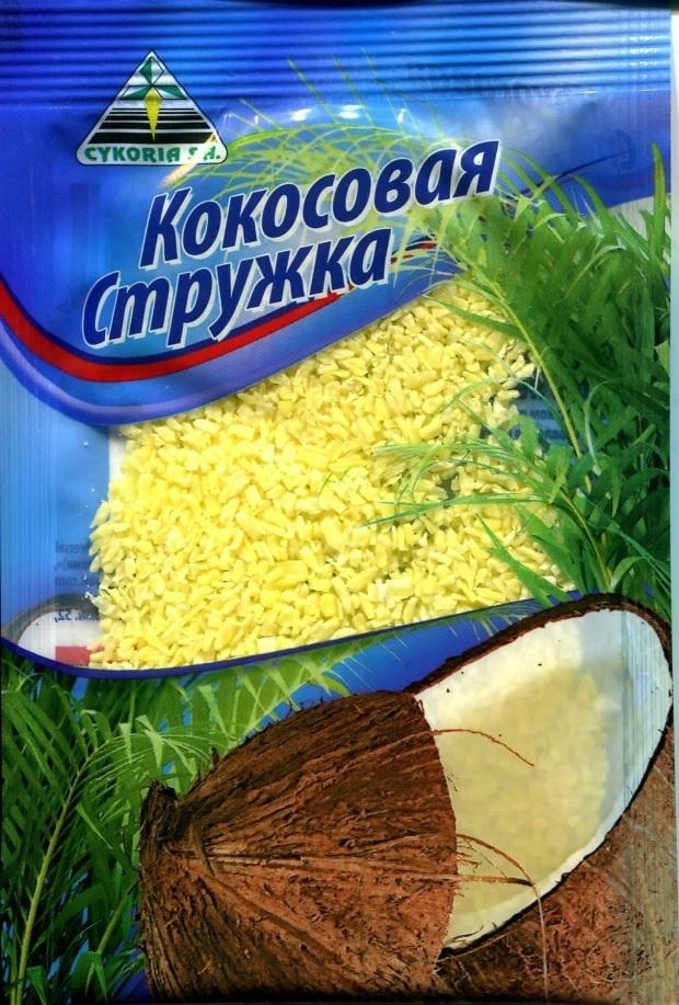Кокосовая стружка желтая, 50 гр.