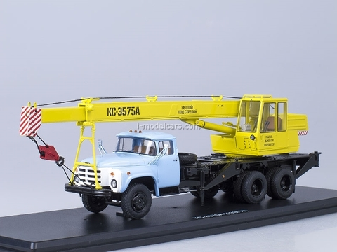 ZIL-133GYa KS-3575A Truck Crane yellow-blue Start Scale Models (SSM) 1:43