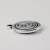 """Подвеска TierraCast знак зодиака """"Лев"""" (цвет-античное серебро) 19х15 мм"""