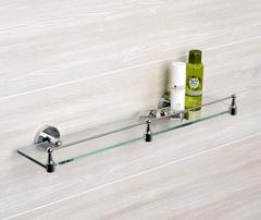 Полка в ванную WasserKRAFT Rhein K-6244 стеклянная с бортиком