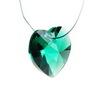 6228 Подвеска Сваровски Сердечко Emerald (18х17,5 мм)