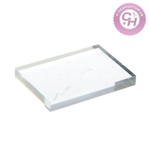 Акриловый блок для прозрачных штампов.