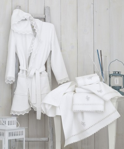 Элитный халат женский вафельный Aleksandra от Blugirl