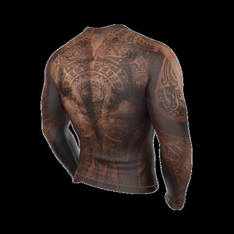 купить рашгард мужской maori rongo с длинным рукавом для фитнеса единоборств занятий спортом