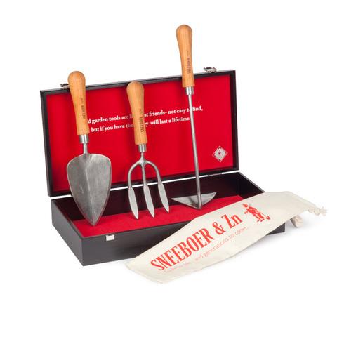 Набор садовых инструментов Sneeboer в деревянной коробке 3 предмета
