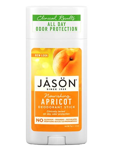 Твердый питательный дезодорант с маслом абрикоса, Jason