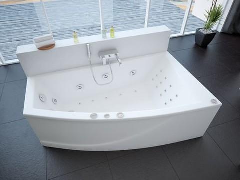 Ванна акриловая асимметричная ОРАКУЛ 180х125 AQUATEK (с каркасом и фронтальной панелью)