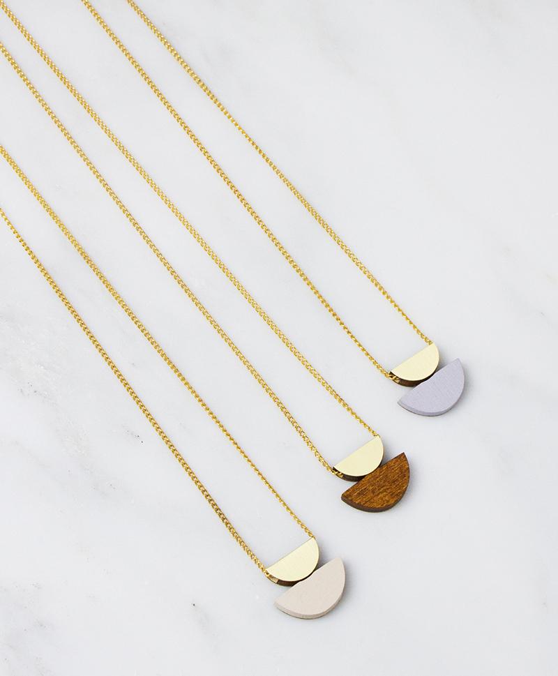 Подвеска Double Crescent Necklace Lavender