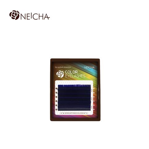Ресницы NEICHA нейша цветные 6 линий MIX темно-синий