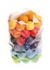 60 деревянных бусин, разноцветные, 20 мм
