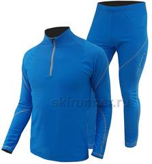 Раздельный лыжный гоночный комбинезон Nordski Active Blue