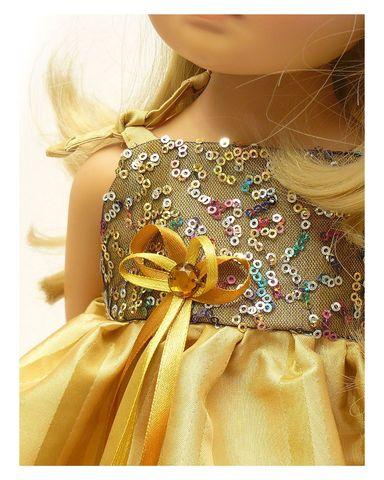 Платье вечернее - Детали. Одежда для кукол, пупсов и мягких игрушек.