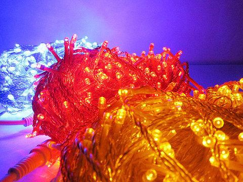Светодиодные уличные гирлянды нить силиконовые 30 м 300 светодиодов led ламп