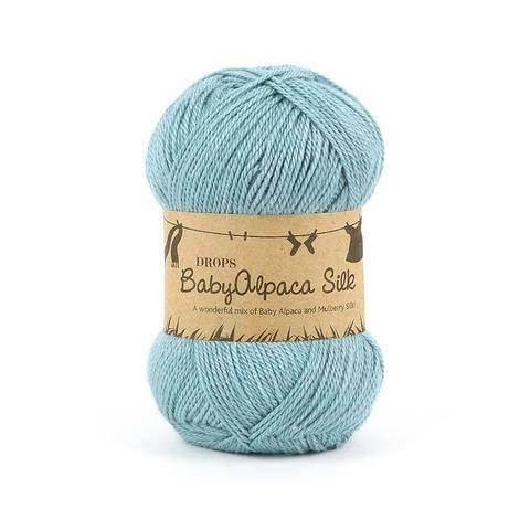 Пряжа Drops Baby Alpaca Silk 7402 лазурь