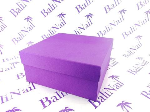 Коробка подарочная квадратная Премиум, 17,5х17,5х8см, /фиолетовый/