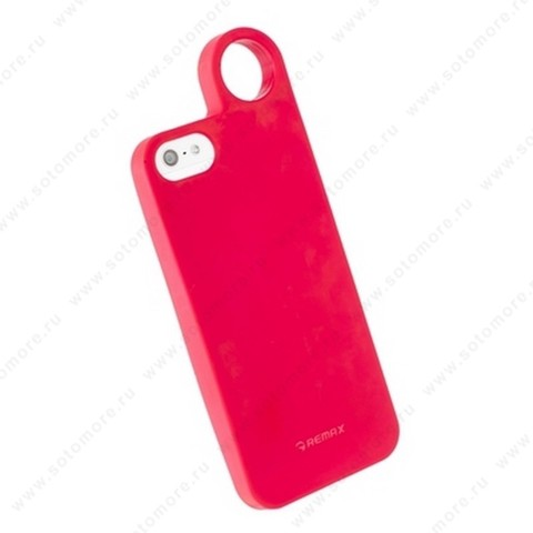 Накладка REMAX для iPhone SE/ 5s/ 5C/ 5 с кольцом красная