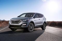 Защита фар для Hyundai Santa Fe 2012- прозрачная с черной окантовкой, 2 части, EGR (214080DSSE)