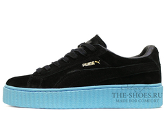 Кеды Женские Puma X Rihanna Creeper Black Sky Blue