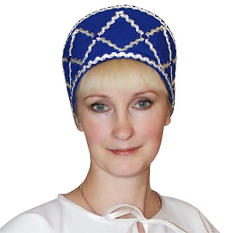 Кокошник Дарья синий