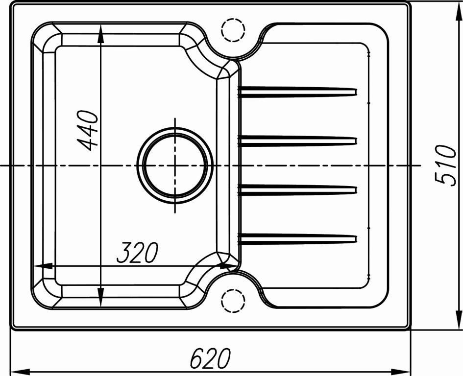 Схема кухонная мойка Dr. Gans Lora 620