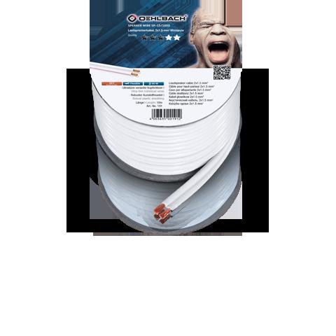 Oehlbach Speaker Cable 2x2,5mm white 350m, кабель акустический