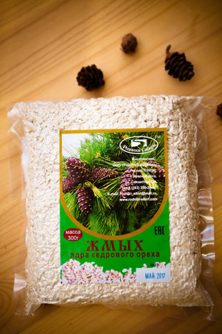 Родники сибири жмых кедрового ореха 300г