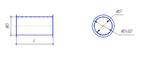 Воздуховод круглый 250 мм 1,5 м полипропилен