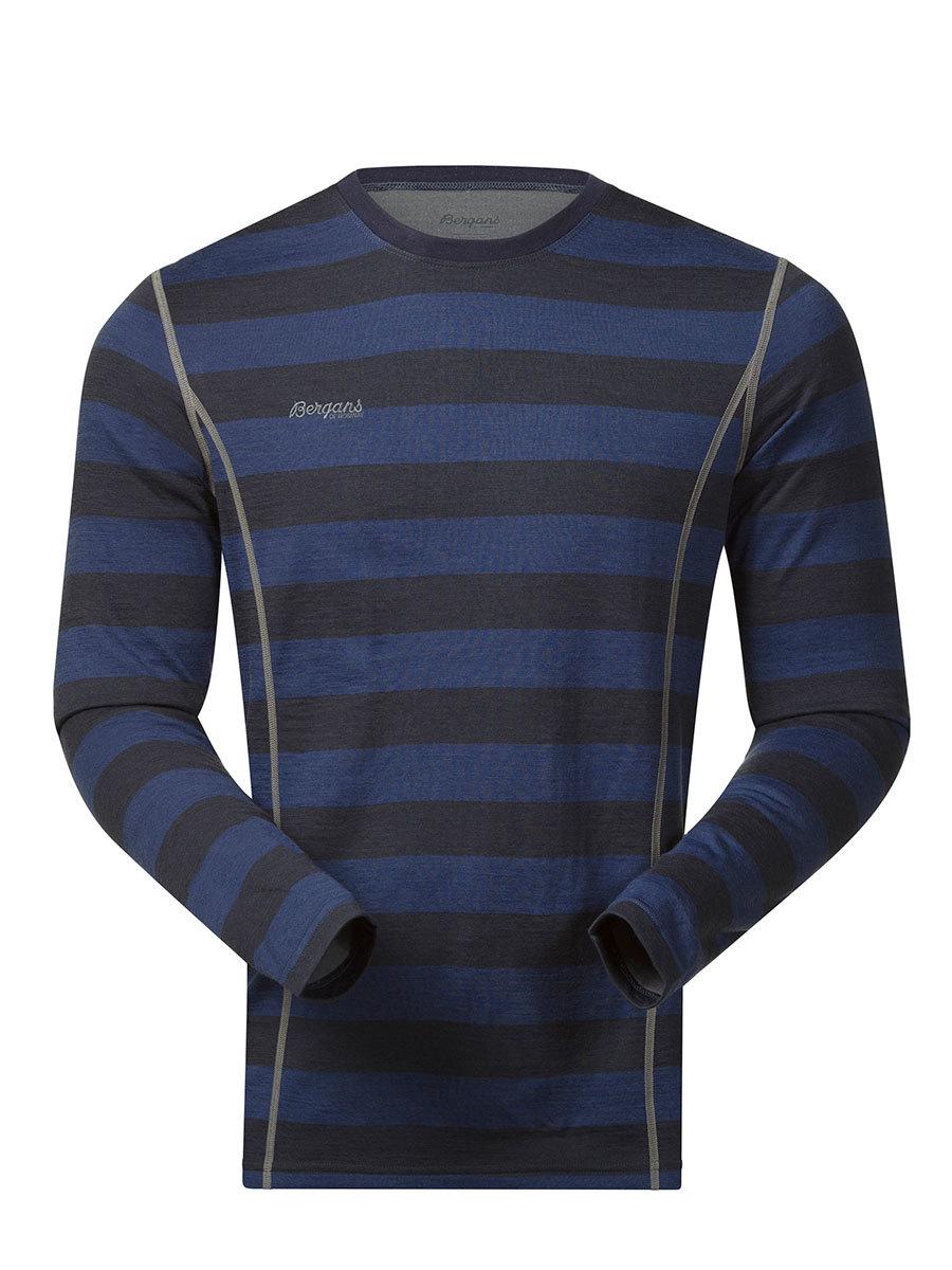 Bergans термобелье футболка 1864 Akeleie Shirt Night Blue Striped