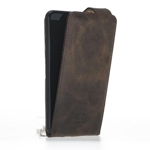 Кожаный чехол флип для Samsung Galaxy S10 Plus Bouletta FlipCase серо-коричневый g6