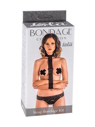 Ошейник с длинной лентой и наручниками Strap Bondage Kit Plus Size