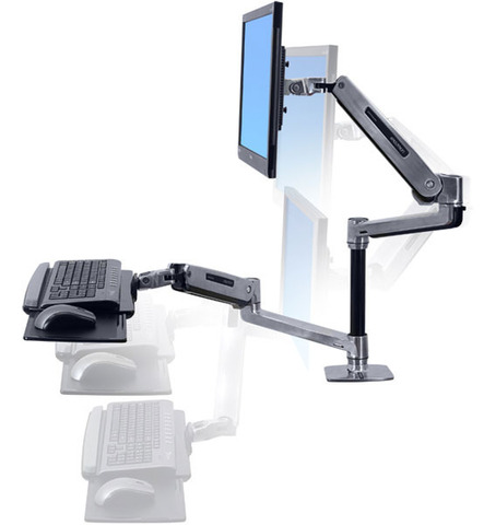Рабочее место Ergotron WorkFit-LX, Sit-Stand Desk Mount System (45-405-026)
