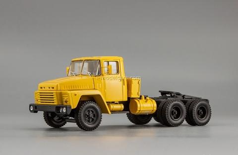 KRAZ-252 truck tractor 1979-1990 yellow 1:43 Nash Avtoprom