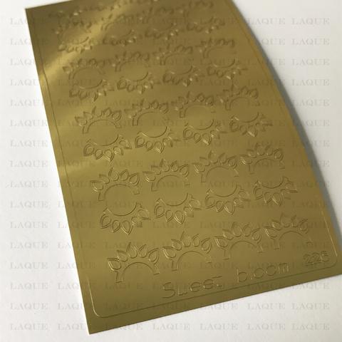 Металлизированные наклейки №226 Gold
