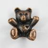 "Бусина 3D ""Мишка"" (цвет - античная медь) 14х12 мм"