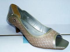 Женские кожаные туфли на низком каблуке недорого 4004