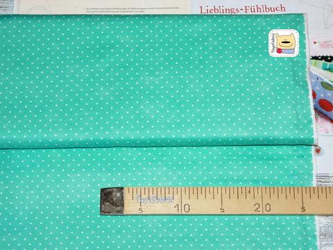 Ткань для пэчворка 20782 (горох на мятном) 45х55см
