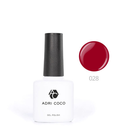 Цветной гель-лак ADRICOCO №028 темно-красный (8 мл.)