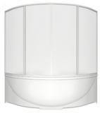 шторки для ванной 150*150см Империал,Ирис, 4-х створчатая, Пластик