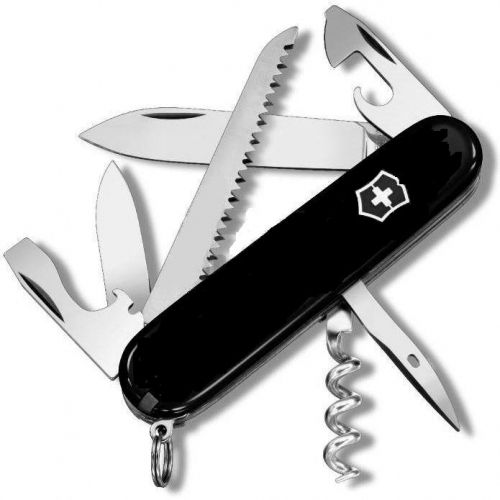 Складной нож Victorinox Camper Black (1.3613.3) 91 мм., 13 функций, цвет чёрный - Wenger-Victorinox.Ru