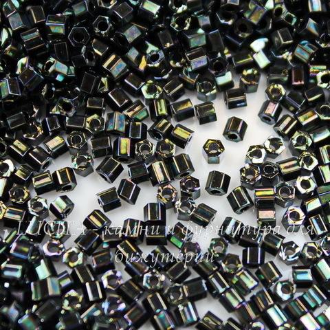 0089 Бисер японский TOHO Hexagon (шестиугольный) 11/0, зеленый травяной металлик