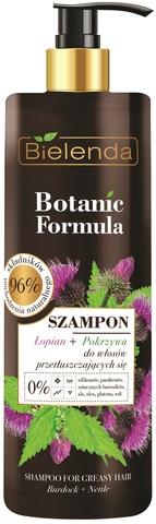 BOTANIC FORMULA Шампунь для жирных волос ЛОПУХ+КРАПИВА, 400мл