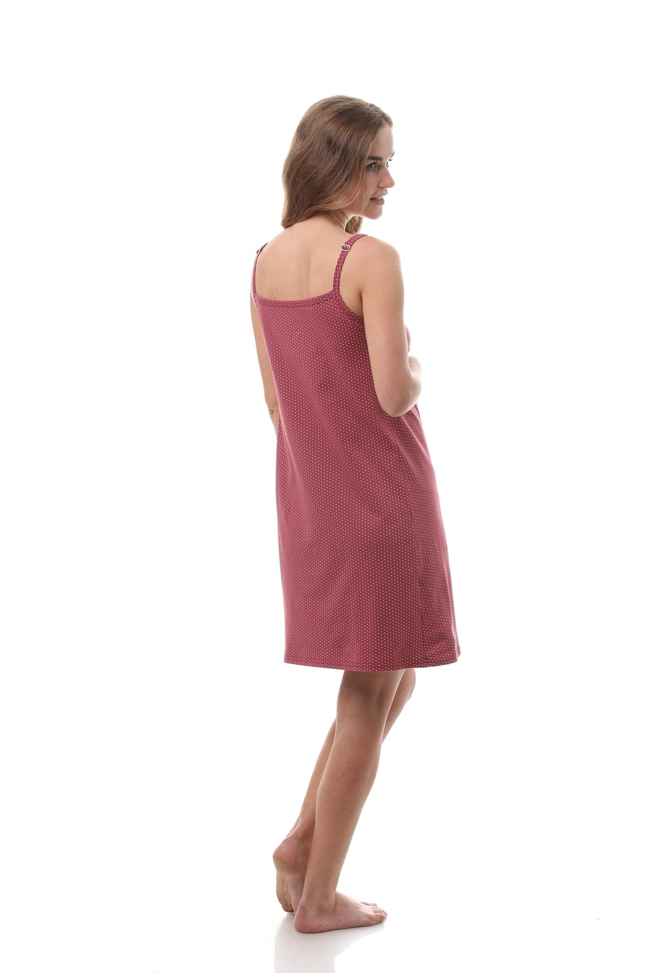 Ночная сорочка для беременных и кормящих 10654 бордовый
