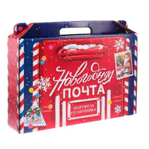 060-0026 Коробка Новый год «Набор отличника. Новогодняя Почта», без наполнения