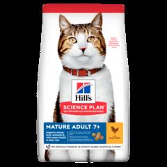 Корм для кошек от 7 лет Hill`s Science Plan Feline Mature Adult 7+ Active Longevity, с курицей