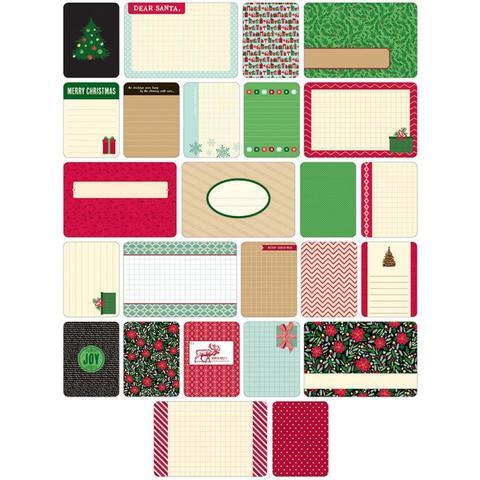 Набор карточек Project Life - CHRISTMAS 40 шт