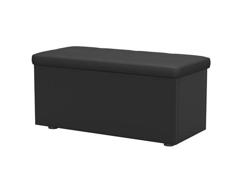ЛДСП+Экокожа, Черный с черным